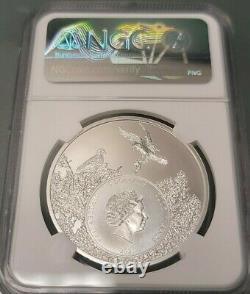 1 oz. Silver Coin. 999 2021 NGC 7k MS70 Texas Longhorn U. S. State Animal Series
