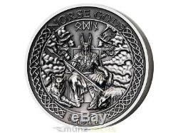 10 $ Dollar Norse Gods Odin Ultra High Relief Cook Islands 1 oz Silber 2015