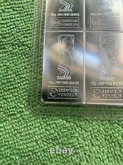 100 Gram Valcambi Silver CombiCoin Cook Islands (10x10g with Assay) RARE