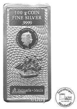 100 Gramm Silber Barren Münze Cook Islands 2020 Silberbarren 100 g NEU und OVP