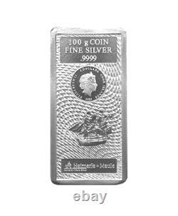 100 Gramm Silber Barren Münze Cook Islands 2020 Silberbarren 100g NEU und OVP