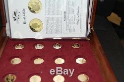 12 Goldmünzen Cook-Islands, Bahamas, Bhutan, Salomonen, Endangered wildlife PP