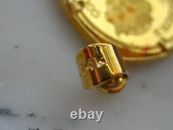 14 Kt Yellow Gold & 2005 Cook Islands Queen Elizabeth II & Raphael Coin Pendant