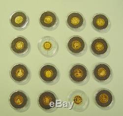 16x 1 Dollar 2007 Cook Islands Euromotive in Gold je 0,5 g Feingold Zertifikat