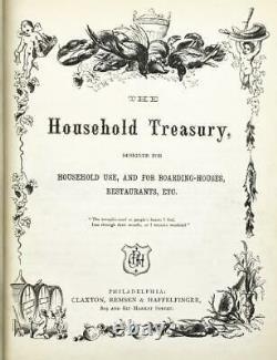 1870 Household Treasury Cookbook for Handwritten Recipes Rhode Island Bridal