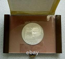 1974 COOK ISLANDS 50 DOLLARS CHURCHILL PROOF STERLING SILVER with COA 3 Oz