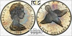 1976-fm Cook Islands $5 Five Dollars Pcgs Pr67dcam Toned Only 2 Graded Higher