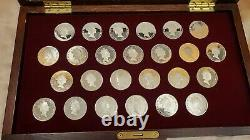1988 Cook Islands The Coins Of Great Explorers Silver Coin Set & Key Rare