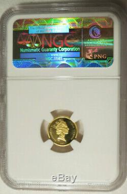 1990 Cook Islands 1/25 oz. Gold Bison Endangered Wildlife NGC PF 69 Ultra Cameo