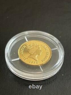 1996 1/25 oz. 9999 Gold Coin Olympic Park Eagle Cook Islands BU Rare