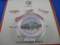 1998 Cook Islands The Australian Fauna Silver Coin Series Threatened Species