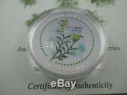 1999 Cook Islands The Threatened Species Australian Flora Silver Coin Series