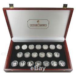 19x 50 Dollar + 1x 10 Dollar Cook Islands 500 Years of America Silber Münzen