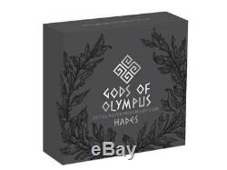 2 $ Dollar Gods of Olympus Hades High Relief Cook Islands 2 oz Fine Silver 2017