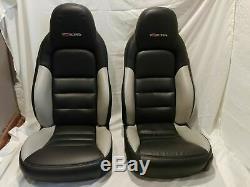 2005 2013 Corvette C6 Z06 Corvette Front Seats Black Leather Driver Passenger GM
