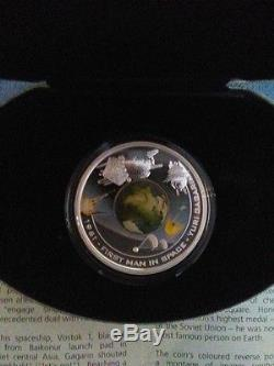 2007-2010 Cook Islands 1oz. 999 Silver Proof Coin Orbit and Beyond set rare