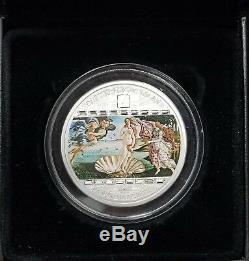 2008 $20 Cook Islands 3oz Silver Coin The Birth of Venus Sandro Botticelli