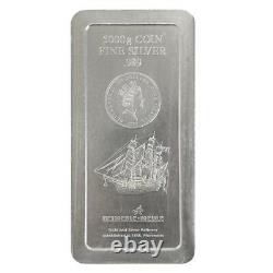 2008 5 Kilo Silver Heimerle & Meule Cook Islands $150 Coin Bar. 999 Fine