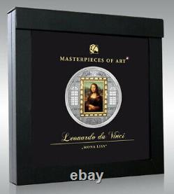 2009 Cook Islands $20 MONA LISA 3 oz Silver 1/4 Gold Coin 752/mintage 999 RARE
