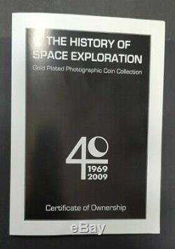 2009 Cook Islands History of Space Exploration Gold Plated Coin Set 12 Coins