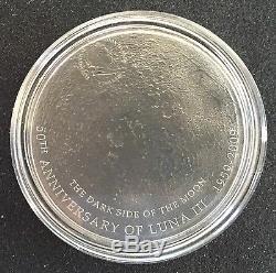 2009 Cook Islands Lunar Meteorite $5 silver coin