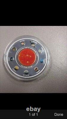 2009 cook island solar system 5$ silver coin no coa no box
