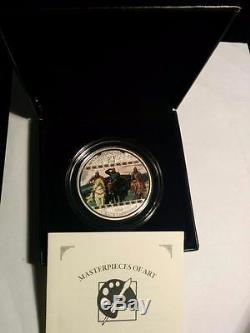 2010 Cook Islands 20$ Three Bogatyrs Masterpieces of Art 3oz Silver Proof Coin