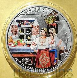 2010 Cook Islands Godmother 1Oz Silver Proof Color Coin Ukraine Custom Tradition