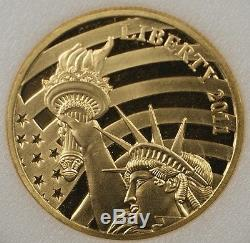 2011 Cook Islands $25 1/2 oz. 24 Gold Proof Liberty Coin Tribute. 12oz pure gold