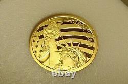2011 Cook Islands $5 1/10 oz. 24 GOLD content 24% Statue Liberty. 240 Fine Coin