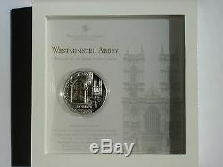2011 Cook Islands WINDOWS OF HEAVEN Westminster Abbey London Silver Coin