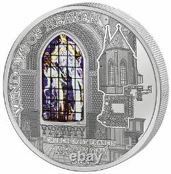 2012 Cook $10 Windows of Heaven Church of St. Francis Krakow 50 g Silver Coin