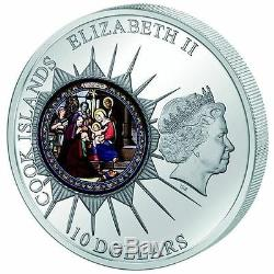 2012 Cook Islands. 10$ WINDOWS OF HEAVEN St. Catherine's Bethlehem Silver Coin