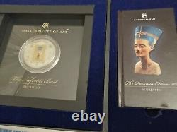 2012- Cook Islands Masterpieces Of Art The Bust Of Nefertiti Silver Gold Coin
