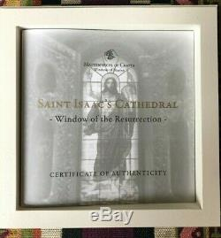 2012 Cook Islands Windows Of Heaven St Saint Isaac's Cathedral Silver Proof Coin