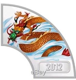 2012 Cook Islands Year of the Dragon Colorized Proof 4 x 1/2 oz. 999 Box, COA