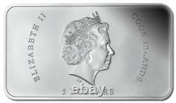 2014 $5 Chocolate Silver Coin Cook Islands
