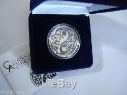2014 $5Cook Islands 1oz 99.9%Silver withPalladium Coin Predator Prey Wolf/Caribou