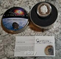 2014 Cook Islands $5 Moldavite Impact Meteorite 1 oz silver proof withOGP & COA