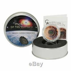 2014 Cook Islands $5 Moldavite Impact Meteorite Proof Silver CONCAVE Coin