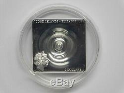 2015 $2 Cook Islands SPACE TIME CONTINUUM AWARD WINNING 1/2 OZ. 999 SILVER COIN