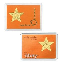 2015 5 x 1 gram Cook Islands Valcambi Gold Star CombiCoin. 9999 Fine (In Assay)