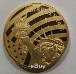 2015 Cook Islands $25 Liberty 1/2 Ounce. 24 Pure Gold Collector Coin