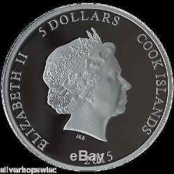 2015 PREDATOR PREY 999 1oz Silver Coin with Palladium $5 GRIZZLY/SALMON