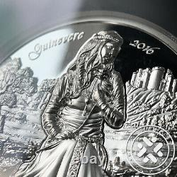 2016 $10 Cook Islands 2 oz Silver NGC PF70 Ultra Cameo High Relief Guinevere