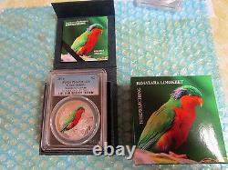 2016 $2 PCGS PR69DCAM Cook Islands Birding Rimatara Lorikeet 1/2 OZ Silver Coin