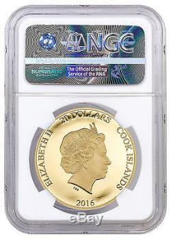 2016 Cook Islands $20 1/10 Oz Proof Gold Brexit NGC PF70 UC ER PRESALE SKU41691