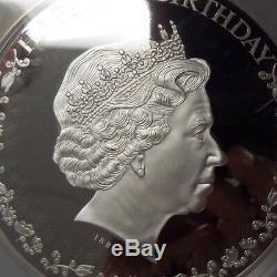2016 Cook Islands $20 Silver Queen Elizabeth II 90th Birthday 3 Oz. PCGS PR 70