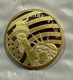 2016 Cook Islands $25 Liberty 1/2 Ounce. 24 Pure Gold
