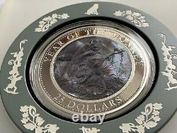 2016 Cook Islands Lunar 5oz Year of the Monkey Silver Mother of Pearl Proof Coin